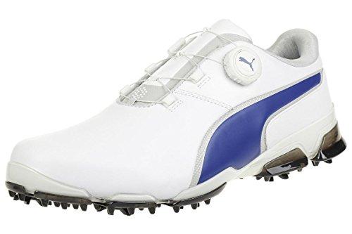 Puma Titantour Ignite Disc Herren Golfschuhe Männer Sportschuh weiß blau Größe 44