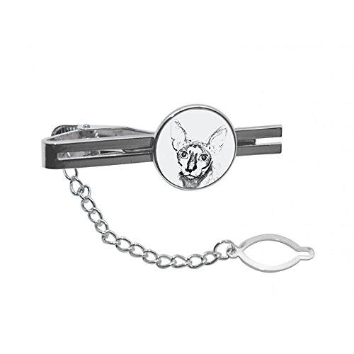 ArtDog Ltd. Cornish Rex, Krawatte, Stift, Clip mit Einem Bild Einer Katze, elegant und lässig Stil