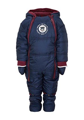 S.Oliver Baby - Jungen Schneeanzug 65.409.85.5529, Einfarbig, Gr. 68, Blau (Dark Blue 5865)