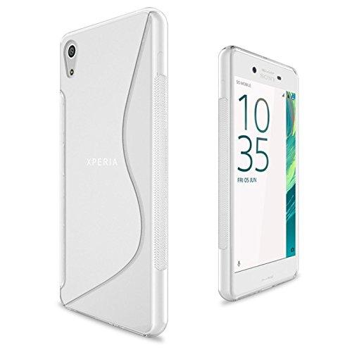 Conie SC41871 S Line Hülle Kompatibel mit Sony Xperia Z5, TPU Smartphone Hülle Transparent Matt rutschfeste Oberfläche für Xperia Z5 Rückseite Design Clear