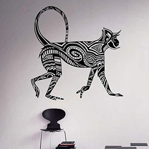 yaofale Etiqueta de la Pared de Estilo Mono Mono tití Pegatina de Vinilo Animales patrón Pared Arte decoración hogar Interior habitación Oficina diseño Deco 57x58cm