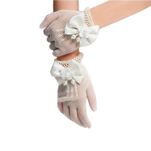 guantes blancos de niña de la marca A/O