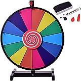 Knoijijuo 18-Zoll-Glücksrad, Preis Radrad Lotterie Mit 14 Slots, Löschbare Feder, 2 Pointers Rot, Breit Und Verdickte Basis Für Farbige Aktivitäten
