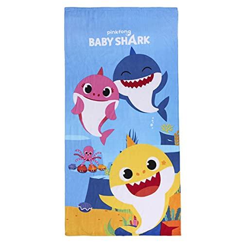 Cerdá - Toalla de Playa de Baby Shark para Niños con Licencia Oficial Nickelodeon