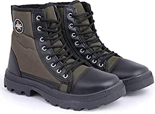 GoldStar Olive Jungle Boots for Men