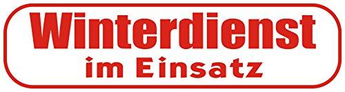 INDIGOS UG - Magnetschild Winterdienst im Einsatz 45 x 12 cm - Magnetfolie für Auto/LKW/Truck/Baustelle/Firma