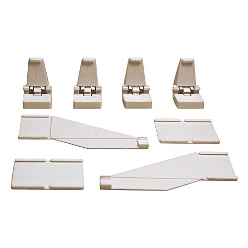Carrera - Pack de guardarraíl de 3 Metros, 24 Soportes, 6 Piezas de conexión y 12 Finales para Pista, Escala 1:24 (20085220)