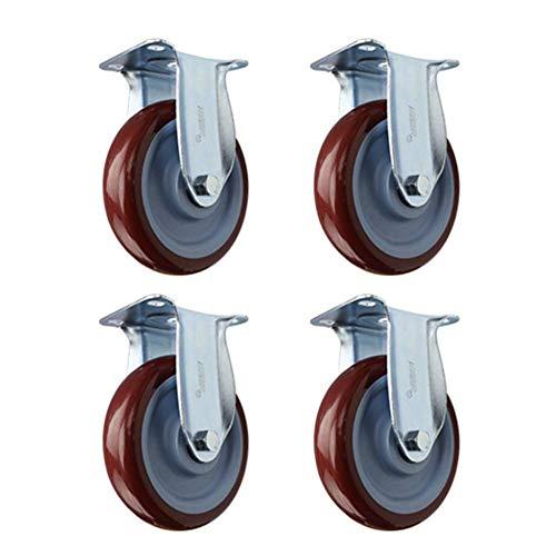 JSONA 4 Ruedas de Goma de orientación Resistente, Ruedas giratorias silenciosas universales para sofá, Puertas correderas, Mesa, Carrito, Muebles