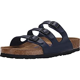 Birkenstock Womens Florida Blue Birko-Flor Sandals 7.5 UK