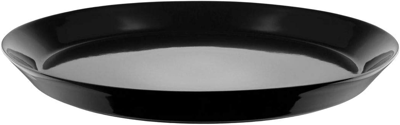 Alessi DC03 1 B Tonale Lot de 4 assiettes en grès Noir