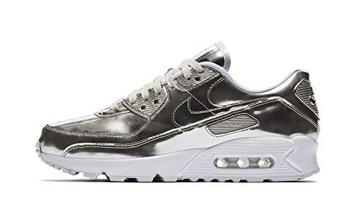 Nike Da Donna Air Max 90 SP Scarpe Da Corsa, marrone (Argento metallizzato/bianco.), 36 EU