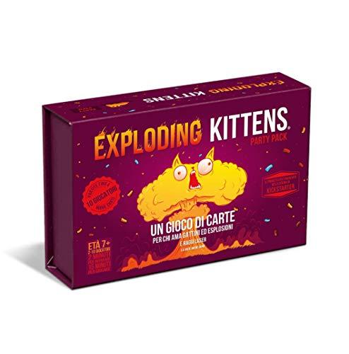 Asmodee - Exploding Kittens: Party Pack, Gioco di Carte, Edizione in Italiano, 8543