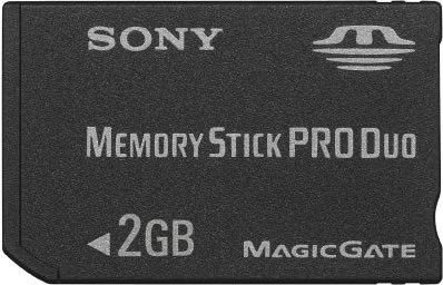Sony Memory Stick Pro Duo 2GB Small Memoria Flash MS - Tarjeta de Memoria (2 GB, MS)