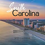 """South Carolina 2022 Calendar: 12-month Calendar - Square Small Gorgeous Calendar 7x7"""" for planners with large grid for note"""