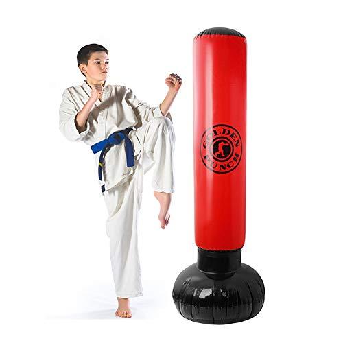 Saco de Boxeo de Fitness, Pesado Entrenamiento de Patada Inflable Vertical Fitness Target Tower Bag Bolsa de Fitness Inflable Saco de Arena Fitness Sports Boxing Target Bag