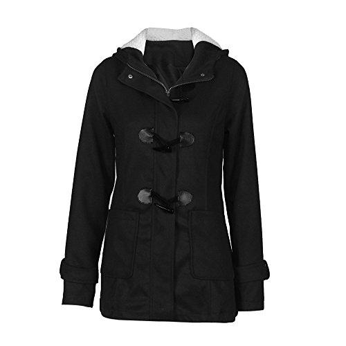 Mantel Damen Winter, Holeider Jacke Warme Wolle Elegant Outwear mit Kapuzen, Frauen Sweatjacke Parka...