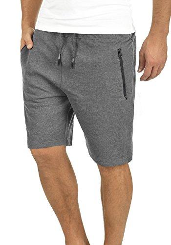 !Solid Taras Herren Sweatshorts Kurze Hose Jogginghose Mit Verschließbaren Eingriffstaschen Und Kordel Regular Fit, Größe:M, Farbe:Grey Melange (8236)