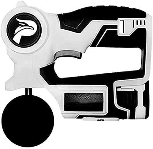 QKWBD Pistola Masajeadora De Tejido Profundo, Dispositivo De Vibración De Estimulación Muscular para Aliviar El Dolor, Quiropráctica De Mano para Relajar Los Músculos con 4 Tipos De Masaje