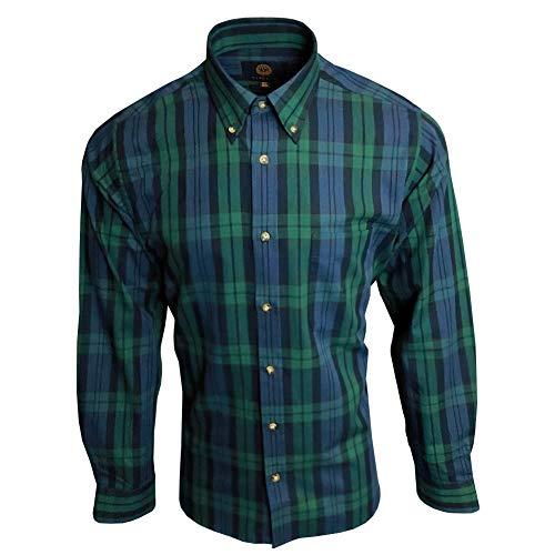 Photo of Viyella Black Watch Tartan 80/20 Cotton Wool Blend Button Down Collar Shirt In Size 15
