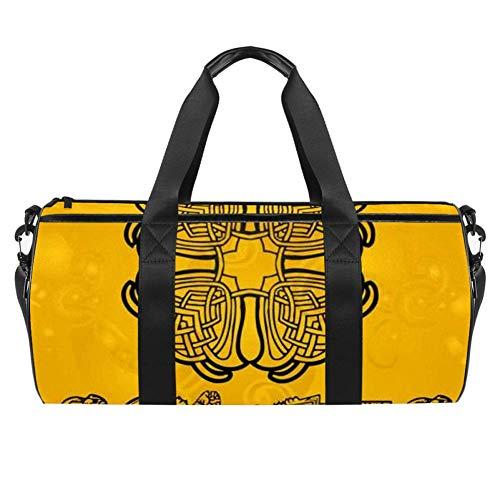 Anna Cowper Celtic Duffel Shoulder Carry Bag Canvas Travel Bag for Gym Sports Dance Travel Weekender