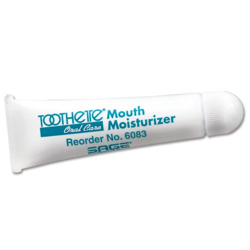 Toothette Oral Care Mouth Moisturizer with Vitamin E and Coconut Oil - Pack of 5 tubes (0.5 oz. each)