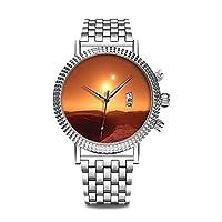 高級 時計 ブランド 人気、 上品 腕時計 ブランド 人気、自分用もしくは親戚お友達恋人へ贈る メンズ 時計 パーソナリティパターンウォッチ 1038. バイナリスター砂漠の世界, 時計