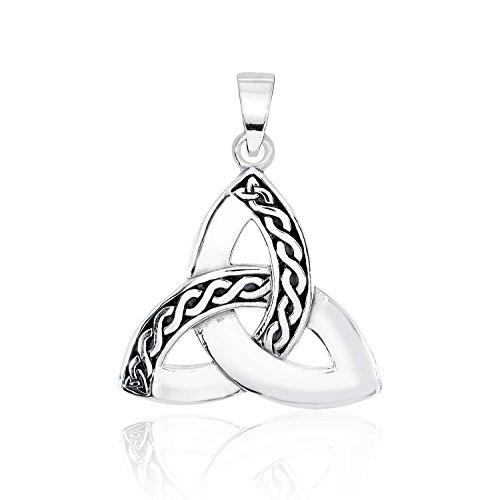WithLoveSilver Breloque en Argent Sterling 925 avec nœud de la Trinité Celtique