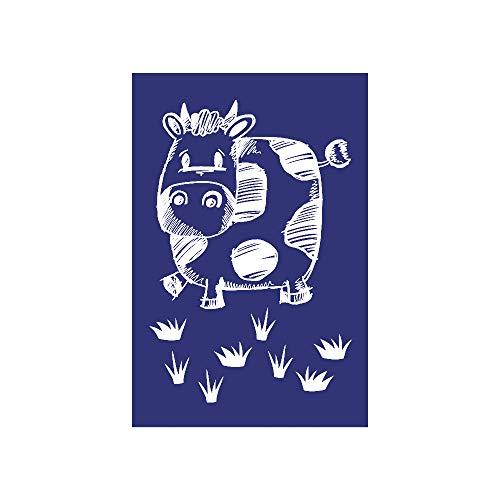 Rayher Schablone, Kuh, DIN A5, Gummi, Blau, 26 x 16,10 x 0,2 cm