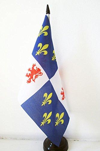 AZ FLAG Drapeau de Table Picardie 21x14cm - Petit Drapeaux DE Bureau Province picarde 14 x 21 cm