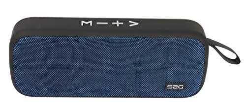 S2G Travel XL Bluetooth Lautsprecher mit TWS Funktion, FM-Radio, USB- Micro-SD - Dunkelblau