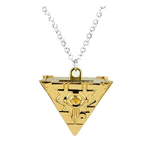 Official Otaku Yu-Gi-Oh Yugioh Milenario Puzzle Pirámide Colgante Cadena Cosplay Collar – Metal (1.1 oz) Oro