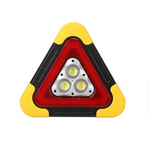 LIfav Auto-Warnlampe, Solar-USB-Ladung Multifunktionsstativ Warnlampe COB Arbeitsscheinwerfer Notlicht Für Den Automatischen Gelben Winkel