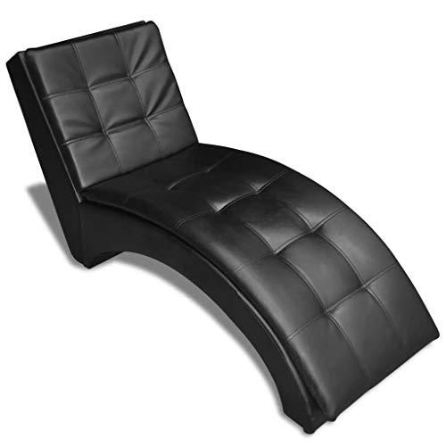 Galapara Relaxsessel Relaxliege Liegesessel Loungesessel Chaiselongue mit Kopfkissen 2 Farbe Optional fürs Wohnzimmer - Modern Wohnmöbel - Schwarz 150 x 55 x 72 cm (L x B x H)