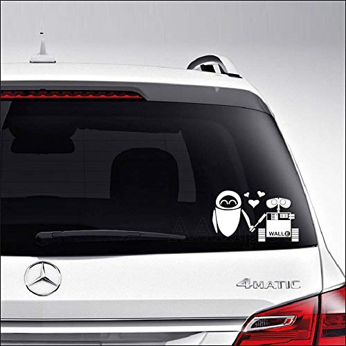 Aampco Decals Wall-E Eva Robot Love Car Truck Motorcycle Windows Bumper Wall Decor Vinyl Decal Sticker Size- [8 inch/20 cm] Wide/Color- Gloss White