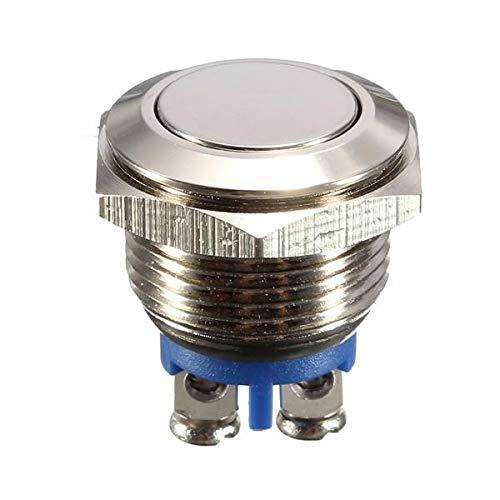 YiXing Máquina Herramientas y accesorios 3A 250VAC 16mm botón de inicio cuerno Metal impermeable botón botón botón níquel latón botón