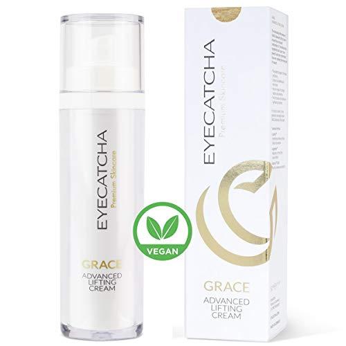 Eyecatcha GRACE Advanced Anti-Aging Gesichtscreme mit Hyaluron-Säure und 3-Fach-Formel aus Peptiden - 50 ml vegane Falten-Creme zur Feuchtigkeitspflege, mit Arganöl und Sheabutter, Made in Germany