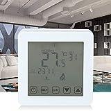 Ymiko Controlador de Temperatura, Pantalla LCD Grande inalámbrica Termostato de calefacción Digital programable Sistema de calefacción de Caldera de Pared para Control de Temperatura Ambiente