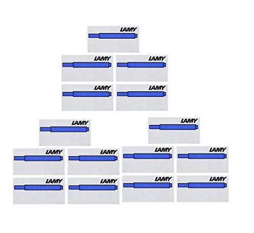Lamy T10 - Cartuchos de Tinta, Color Azul, Azul, 15er Pack