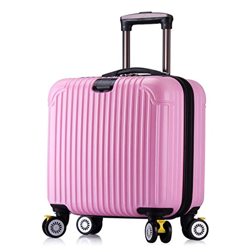 Fashion bagagesets lichte duurzame spinner koffer, 16 inch 39 x 23 x 37 cm koffer champagne zwart reiskoffer wielen zijgreep outdoor