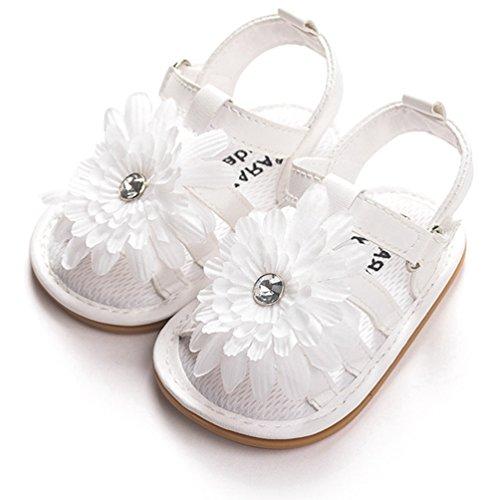 Sandalias de Las niñas Sandalias de Goma Prewalker Sole Flor Antideslizante Verano al Aire Libre Primeros andadores Zapatos