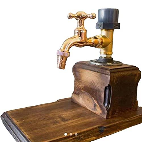 Dispensador de madera de whisky con forma de grifo, dispensador de alcohol, dispensador de whisky para el día del padre, profesional para fiestas dispensador de cócteles (uno)