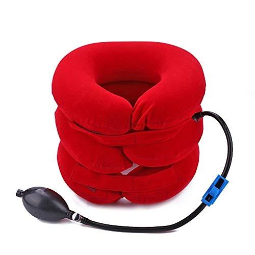 3 tubo inflable en forma de U almohada cuello de tracción cuello cuello suave columna cervical camilla aire cervical almohada cervical de tres capas almohada humana