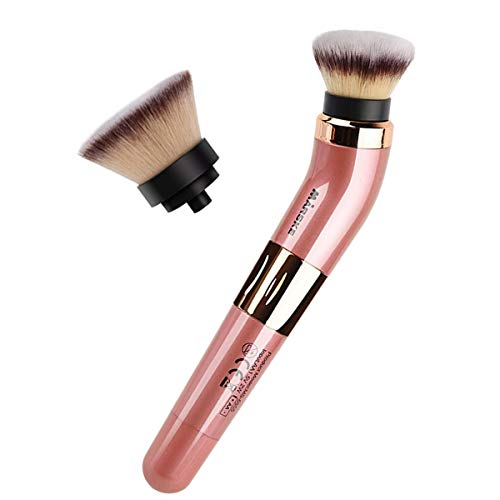 Pinceau de maquillage électrique rotatif Pinceau cosmétique portable rotatif à 360 degrés avec fond de teint et fondation de qualité supérieure