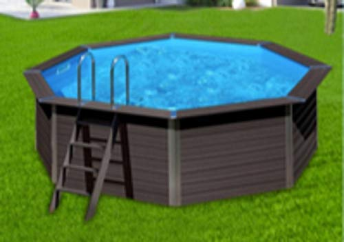 Flight-Pool Freistehender Pool, mit Aluminiumplatten (370 x 124 cm)