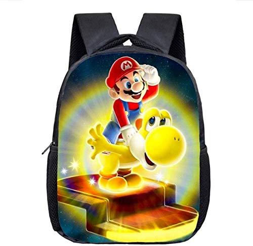 Mochila 3D de dibujos animados Mario para guardería, mochila escolar, mochila escolar, mochila escolar, mochila escolar, diseño bonito (3,13 pulgadas)