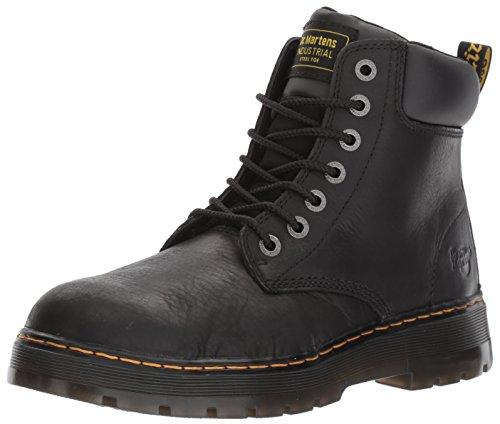 Dr. Martens, Unisex Winch Steel Toe Light Industry Boots, Black, 10 US Women/9 US Men