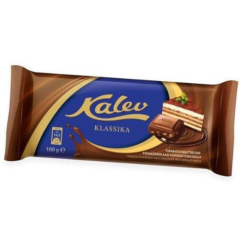 Packung Mit 2 Kalev Tiramisu Aromatisierte Milchschokolade Mit Keks Stücke 100g
