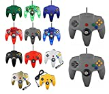 2 mandos para Nintendo 64 N64, color a elegir con cable, 2 unidades grises