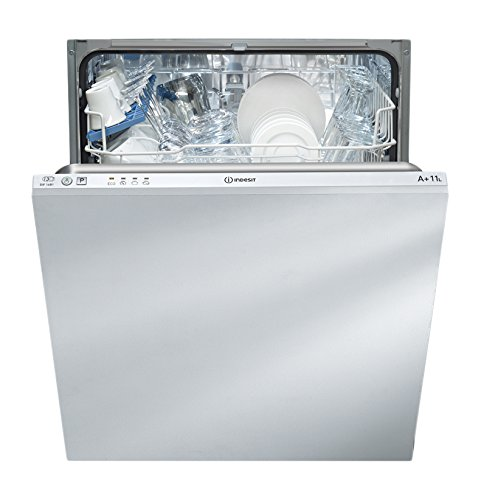 Indesit DIF 14 B1 lavavajilla Totalmente integrado 13 cubiertos A+ - Lavavajillas (Totalmente integrado, Tamaño completo (60 cm), White,Not applicable, Acero inoxidable, Botones, Frío)