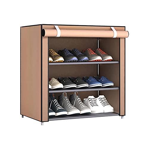 GZWY - Zapatero no tejido, mueble para zapatos, organizador de zapatos, con tapa antipolvo, muebles de casa, color marrón